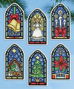 Cross Stitch Kit ~ Design Works Stained Glass Ornaments #DW5