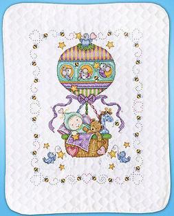Cross Stitch Kit ~ Tobin Balloon Ride Quilt Cute Animals and