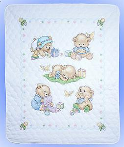 Cross Stitch Kit ~ Design Works / Tobin Cute Baby Bears Quil