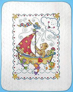 Cross Stitch Kit ~ Tobin Sail Away Teddy Bear & Cute Sea Lif