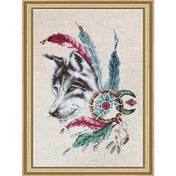 Lucas Cross Stitch Kit The Wolf