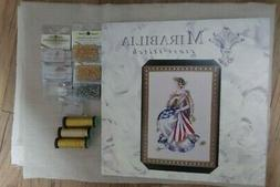 Mirabilia Cross Stitch MD64 Queen of Freedom chart,Beads,Lin
