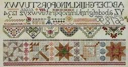 Quakers & Quilts cross-stitch pattern - Rosewood Manor - Kar