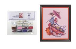 MIRABILIA Cross Stitch PATTERN & EMBELLISHMENT PACK Miss Che