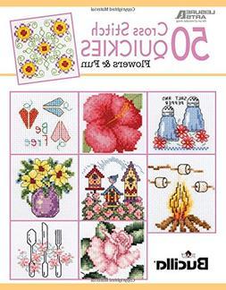 50 Cross Stitch Quickies Flowers   Cross Stitch   Leisure Ar