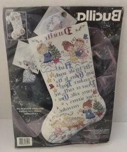 "Bucilla Cross Stitch Stocking Kit Hark the Herald Angels 18"""