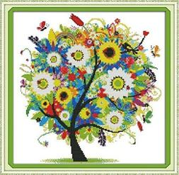 Happy Forever Cross Stitch, scenery, happy life tree 1