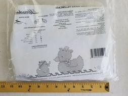 Herrschners Darling DUCKS Pillowcase Stamped Cross-Stitch NO