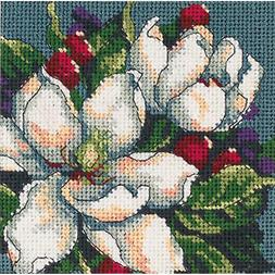 Dimensions 7217 Magnolia Mini Needlepoint Kit Stitch