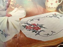 Tobin Dining For Two WILD ROSE  2 placemats & 2 napkins CROS