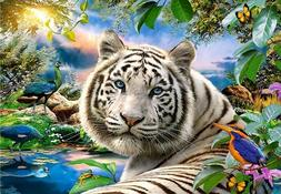 DIY 5D Diamond Painting Kits Full Drill Tiger Animal Embroid