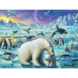 DIY Full 5D Diamond Mosaic Rhinestone Polar Bears Cross Stit