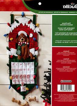 Dog Advent Calendar Felt Applique Kit-13X27