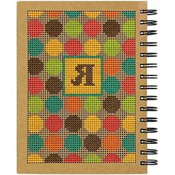 """6""""X8"""" - Dots Large Journal Punched For Cross Stitch"""