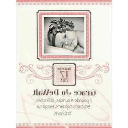 Elegant Flourish Birth Record Cross Stitch Kit