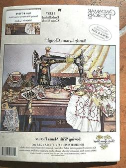 """Embellished Cross Stitch Kit51387""""Sewing With Mama"""" by Canda"""