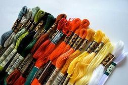 DMC EMBROIDERY FLOSS ASSORTMENT - 100 Colors Genuine Made in