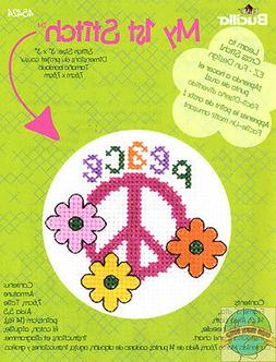 My 1st Stitch Peace Mini Counted Cross Stitch Kit-3 Round 14