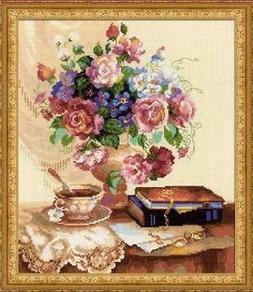 Etude with Flowers - Riolis Counted Cross Stitch Kit w/14 Ct