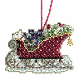 Evergreen Sleigh Cross Stitch Kit Mill Hill 2017 Sleigh Ride