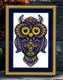Exotic Owl Counted Cross Stitch Kits ,Egypt thread 32*46cm,1