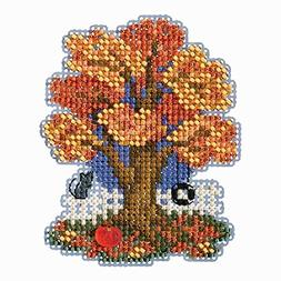 Mill Hill Fall Tree Beaded Counted Cross Stitch Ornament Kit