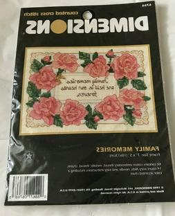 Dimensions Family Memories counted cross stitch kit   6766 N