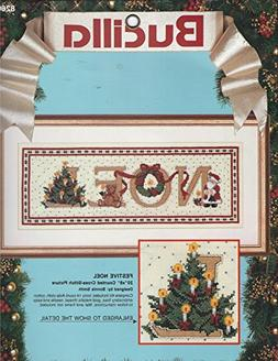 """Festive Noel ... 20"""" x 8"""" Counted Cross Stitch Picture ... K"""