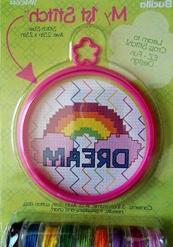 Bucilla My First Stitch Cross Stich Kit - Rainbow Dream