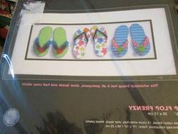 Dimensions Flip Flop Frenzy Cross Stitch Kit #35148-15x6 Inc