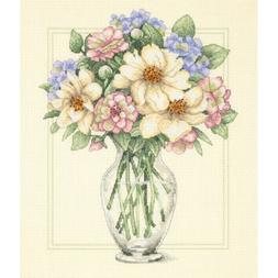 Flowers in a Tall Vase Cross Stitch Kit