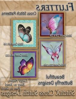 Flutters Cross Stitch Patterns: Beautiful Butterfly Designs