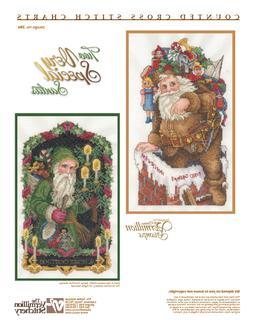 Four Vintage Santas Vermillion Stitchery Cross Stitch Patter