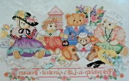 Bucilla Friendship Bears Counted Cross Stitch Kit #40516 Vin