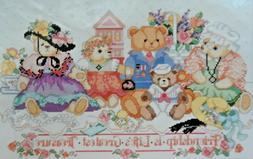 Bucilla Friendship Bears Counted Cross Stitch Kit #40516 Vin