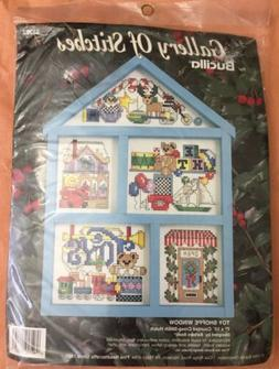 Bucilla Gallery of Stitches Toy Shoppe Window Counted Cross-