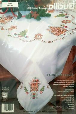 GINGERBREAD VILLAGE  Bucilla kit 83487 STAMPED Cross Stitch