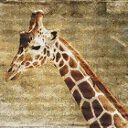 Giraffe Painting Cross Stitch Pattern