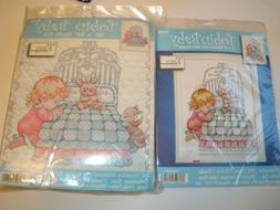 GIRL Bedtime Prayer Birth Record AND Tobin Baby Quilt Kits S