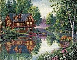 Dimensions Gold Collection Cabin Fever Counted X-Stitch Kit-