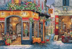 """Gold Collection European Bistro Counted Cross Stitch Kit-16"""""""