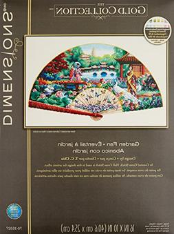 """Gold Collection Garden Fan Counted Cross Stitch Kit-16""""X10"""""""