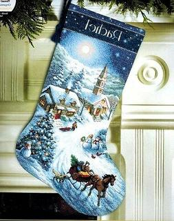 Dimensions Gold Collection Sleigh Ride At Dusk Stocking Coun