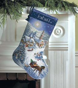 Gold Collection Sleigh Ride At Dusk Stocking