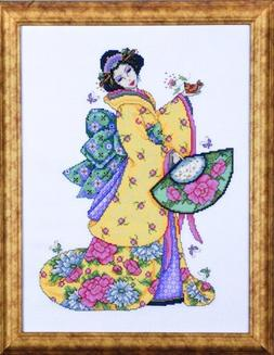 Design Works Golden Geisha Cross Stitch Kit, Multi-Colour by