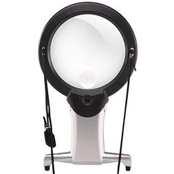 Hands Free Lighted Reading Magnifier, Dicfeos Extra Large Ne