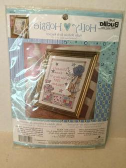 Bucilla HOLLY HOBBIE BIRTH RECORD Cross Stitch Kit Stars Flo