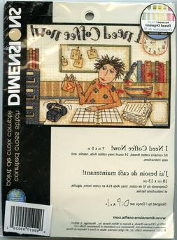 I Needl Coffee Now! - Small Counted Cross Stitch Kit - Desig