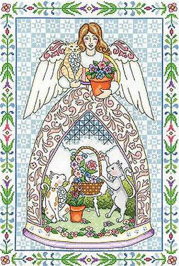 Design Works Jim Shore KITTY ANGEL Counted Cross Stitch Kit