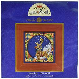 Mill Hill Jim Shore Reindeer Counted Cross Stitch Kit, 5 by